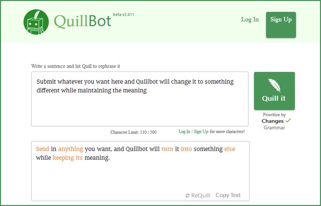 QuillBot-AI-Paraphrasing-Tool